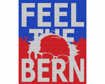Feel the Bern - Single Crochet Written Graphghan Pattern - 02 (170 x 213)