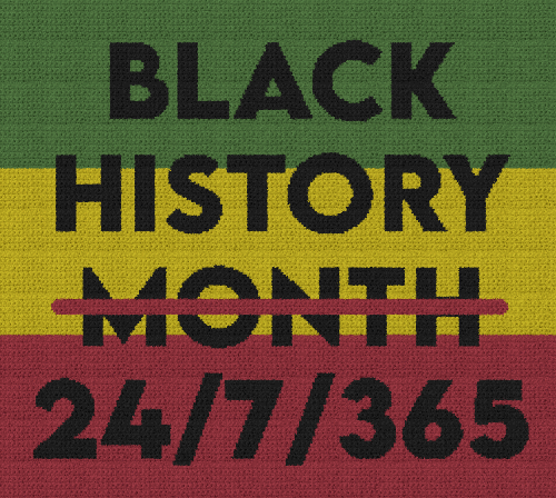 Black History 24/7/365 - Single Crochet Written Graphghan Pattern - 01 (250 x 224)