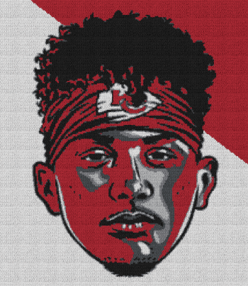 Patrick Mahomes - Single Crochet Written Graphghan Pattern - 04 (217 x 250)