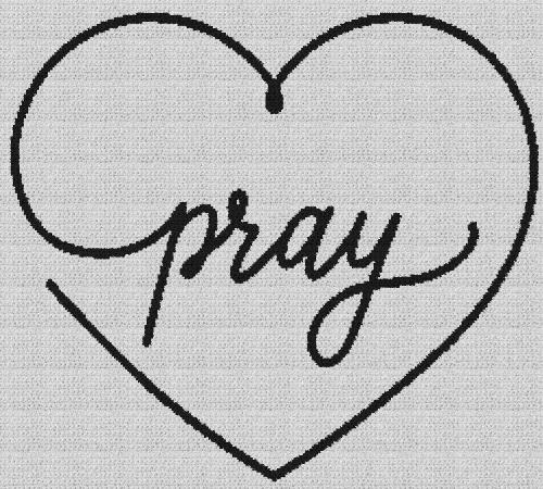 Pray Heart - Single Crochet Written Graphghan Pattern - 01 (250 x 225)