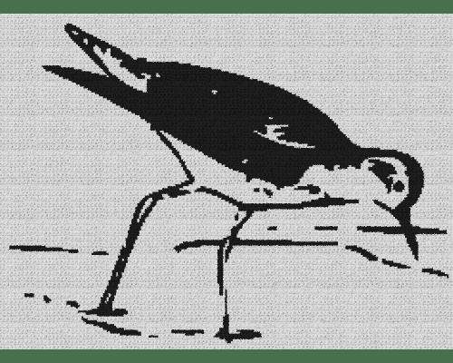 Greater Yellowleg Bird - Single Crochet Written Graphghan Pattern - 01 (240 x 177)