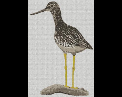Greater Yellowleg Bird - Single Crochet Written Graphghan Pattern - 02 (170 x 250)