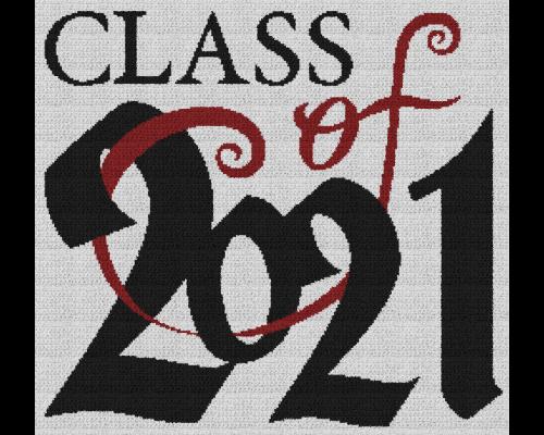 Class of 2021 - Single Crochet Written Graphghan Pattern - 04 (250 x 230)