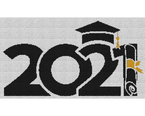 Class of 2021 Graduate - Single Crochet Written Graphghan Pattern - 05 (250 x 140)