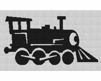 Locomotive Train - Single Crochet Written Graphghan Pattern - 01 (250 x 150)