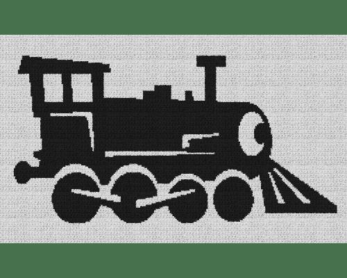 Locomotive Train - Single Crochet Written Graphghan Pattern - 01 (250 x 150)