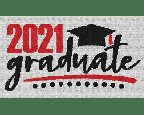 2021 Graduate - Single Crochet Written Graphghan Pattern - 08 (255 x 145)