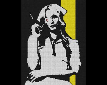 Kill Bill - Nurse Elle - Single Crochet Written Graphghan Pattern - 01 (187 x 250)