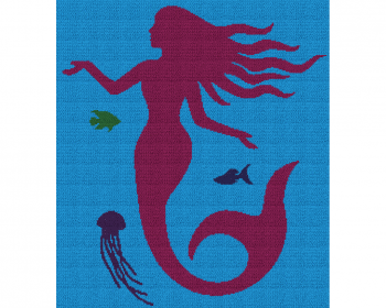 Mermaid Silhouette - Single Crochet Written Graphghan Pattern - 04 (230 x 260)