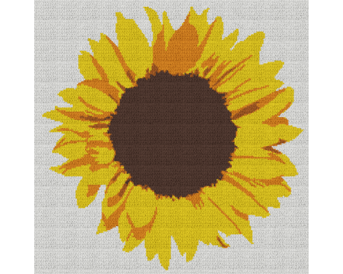 Sunflower - Single Crochet Written Graphghan Pattern - 01 (201 x 201)