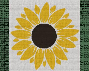 Sunflower - Single Crochet Written Graphghan Pattern - 02 (200 x 200)