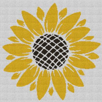 Sunflower - Single Crochet Written Graphghan Pattern - 03 (200 x 200)