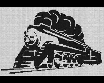 Locomotive Train Engine - Single Crochet Written Graphghan Pattern - 02 (239 x 156)
